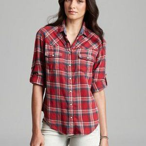 JACHS Girlfriend Bea Light Button-Down Shirt